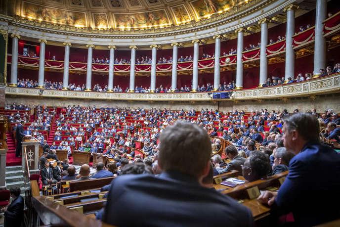 Lors du discours de politique générale d'Edouard Philippe, à l'Assemblée nationale, le 12 juin.