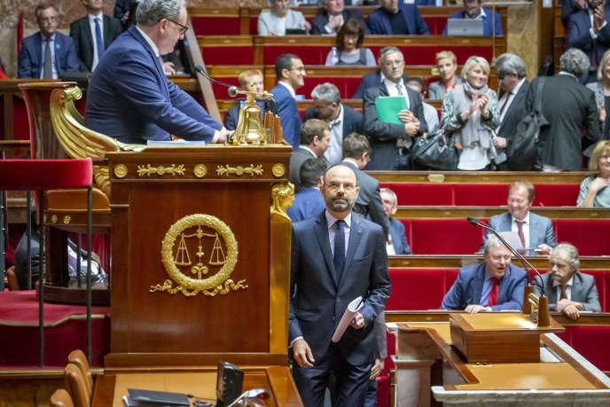 Edouard Philippe, avant son discours de politique générale, à l'Assemblée nationale, le 12juin.