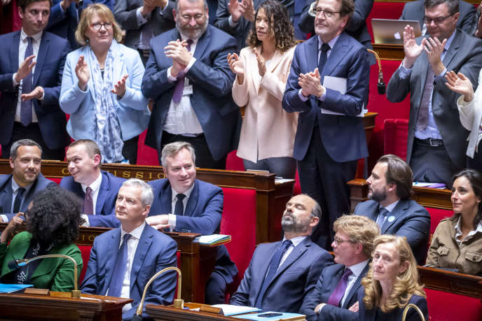 Edouard Philippe, après son discours de politique générale à l'Assemblée nationale, le 12 juin.