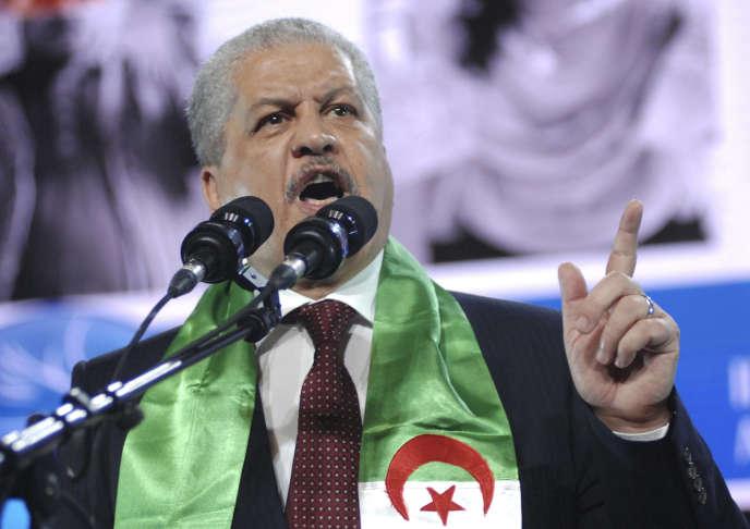 Abdelmalek Sellal, ancien premier ministre, en avril 2014.