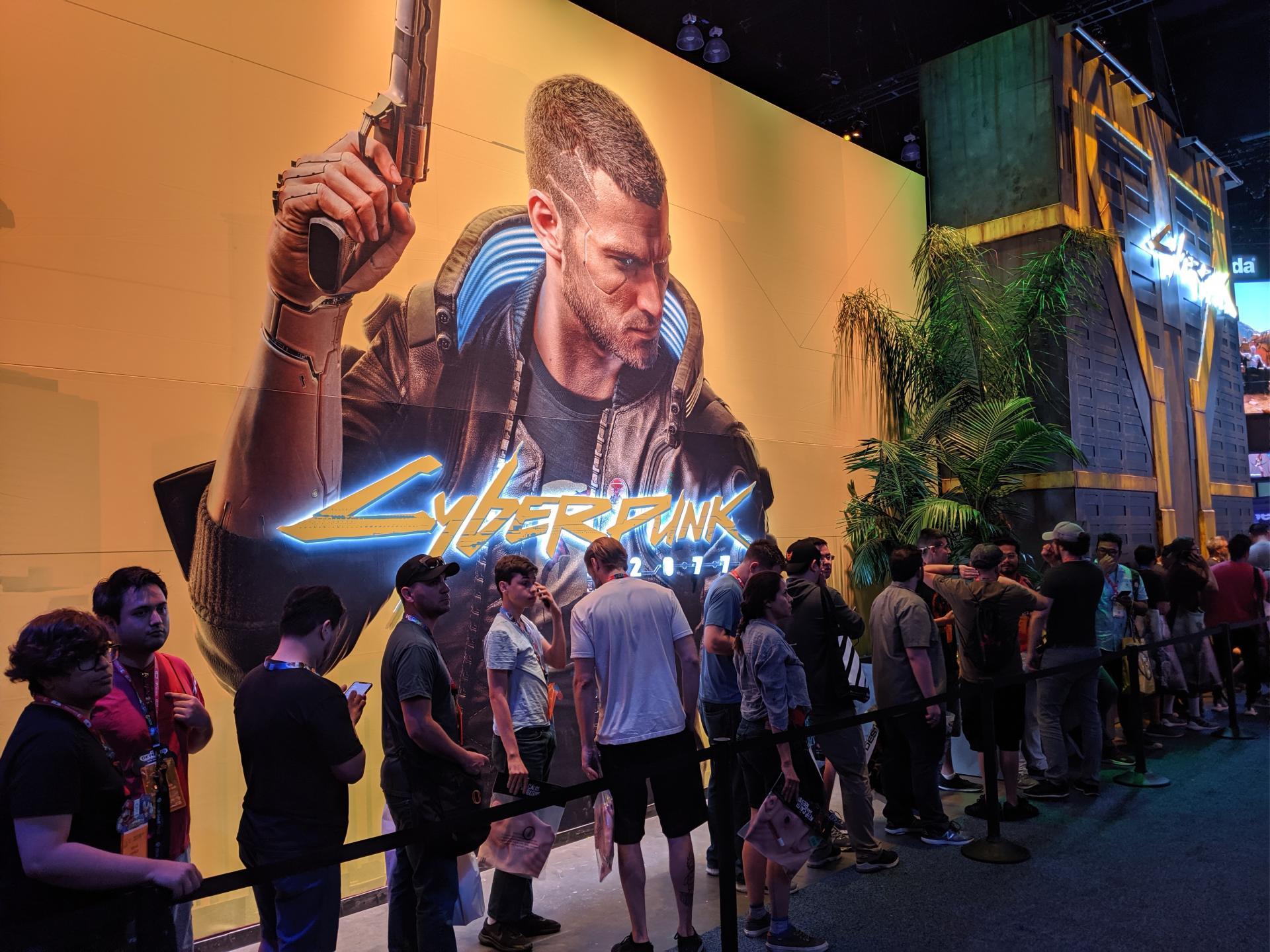 Le stand« Cyberpunk 2077» au Salon du jeu vidéo E3 2019.