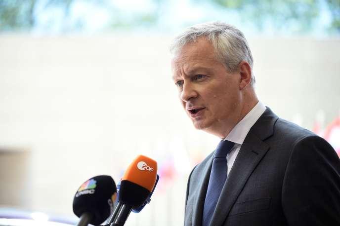 Le ministre français des finances Bruno Le Maire, le 13 juin au Luxembourg.