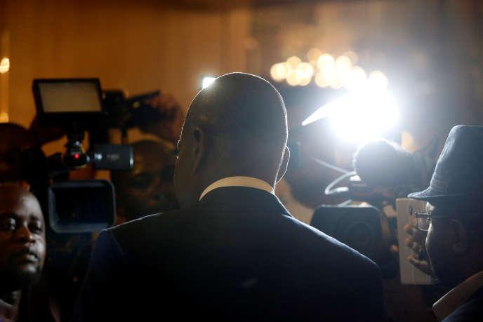 Martin Fayulu, candidat à la présidentielle congolaise du 30 décembre 2018, deux jours avant le scrutin à Kinshasa.