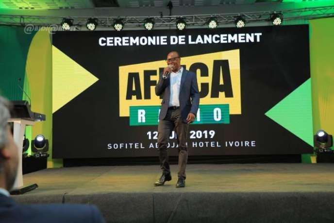 Le lancement d'Africa Radio a eu lieu à l'hôtel Ivoire, à Abidjan, le 12 juin 2019.