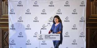 Anne Hidalgo, maire de Paris, à l'Hôtel de Ville, le 6 juin.