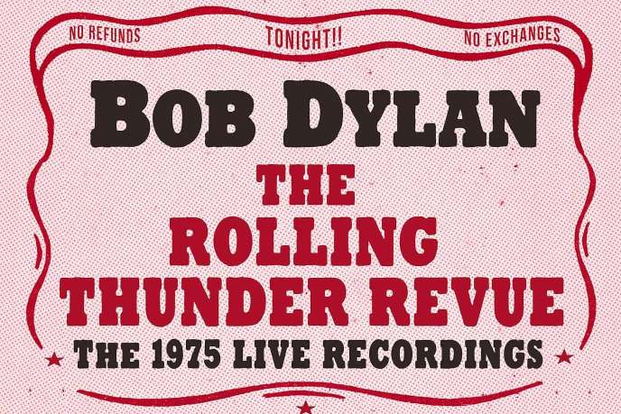 Visuel du coffret de 14 CD«The Rolling Thunder Revue : The 1975 Live Recordings».