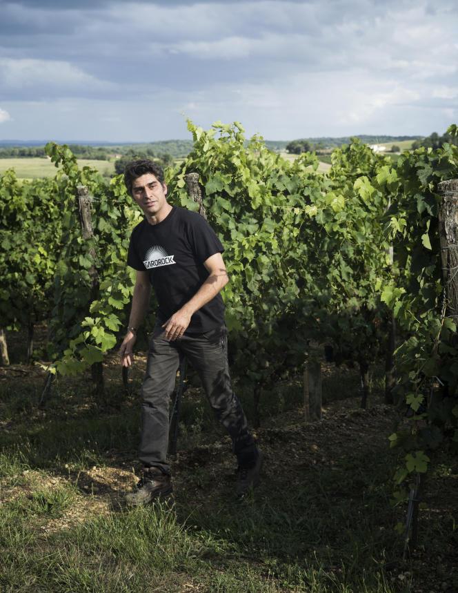 Elian Da Ros, dans son domaine à Cocumont, le 14 août 2014.