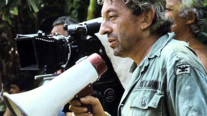 Serge Gainsbourg lors du tournage du film « Equateur », en février 1983.