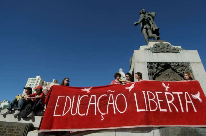 La grève générale, à Belo Horizonte, le 14 juin 2019.