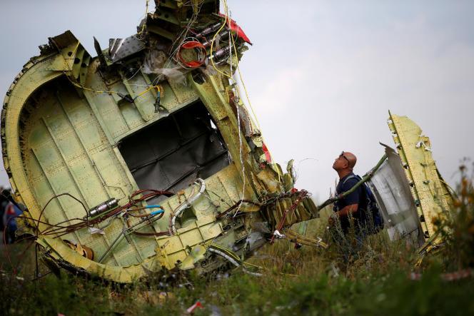 Les débris de l'avion de la Malaysia Airlines en Ukraine, en juillet 2014.