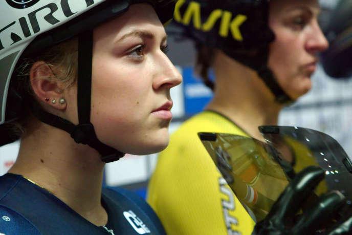 Mathilde Gros, championne d'Europe de cyclisme sur piste.
