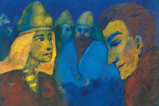 «Maîtresse et étranger» (1938), d'Emil Nolde.