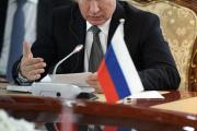 Le président Vladimir Poutine, le 14 juin à Bichkek, la capitale du Kirghizistan.