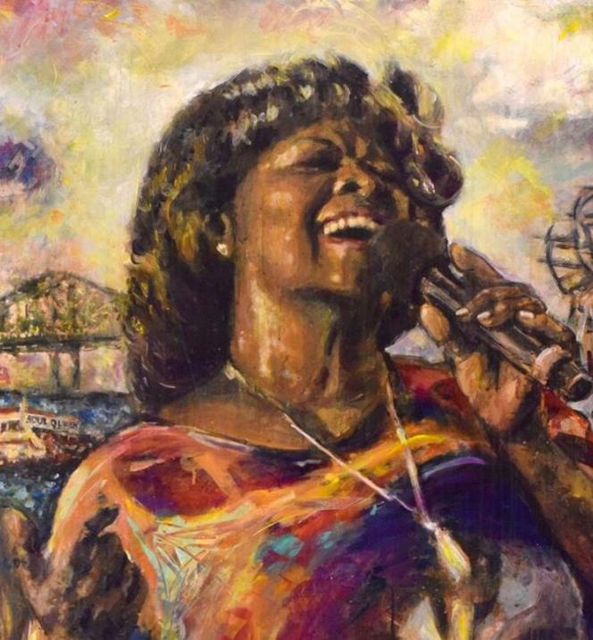 Affiche de l'édition 2019 du French Quarter Festival, New Orleans (Irma Thomas)