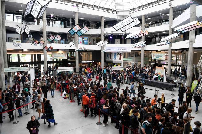 La foule se presse au festival du film d'animation d'Annecy, le 11 juin.
