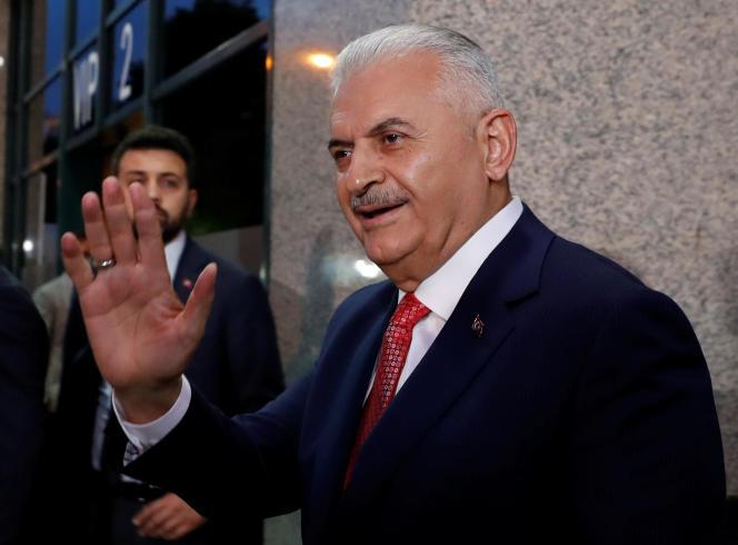 Binali Yildirim, le candidat du président Erdogan, le 16 juin à Istanbul.