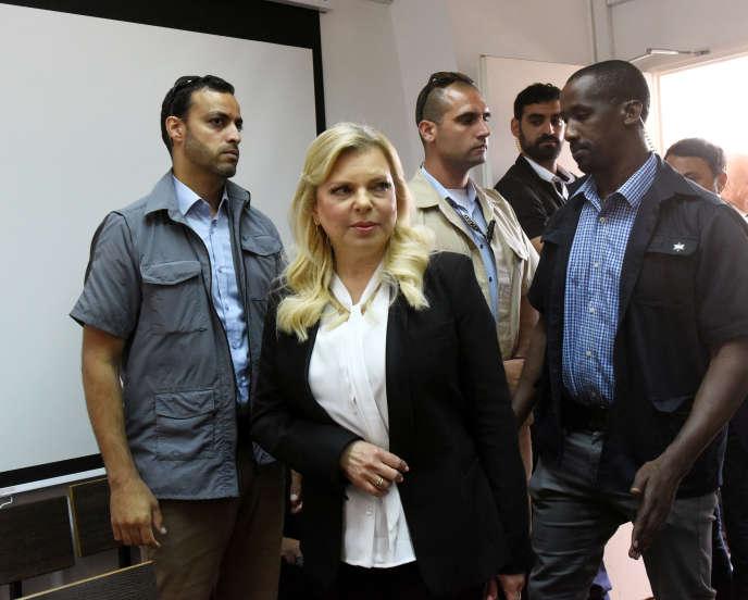 SaraNétanyahou, l'épouse du premier ministre israélien, lors d'une audience devantle tribunal de première instanceà Jérusalem, dimanche 16 juin 2019.