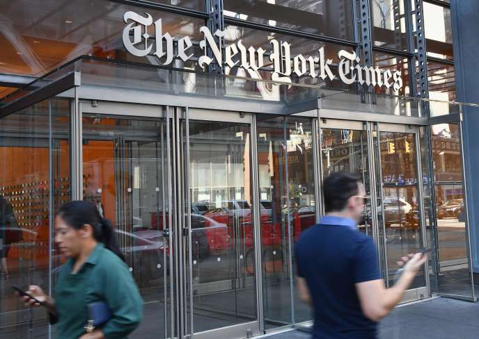 Le siège du « New York Times», àNew York, le 15 juin.