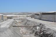 La production intensive finit par transformer les champs en déserts (El Ejido, Sud de l'Espagne).