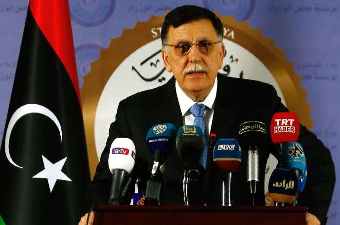 Le chef du gouvernement d'union nationale libyen, Faïez Sarraj.