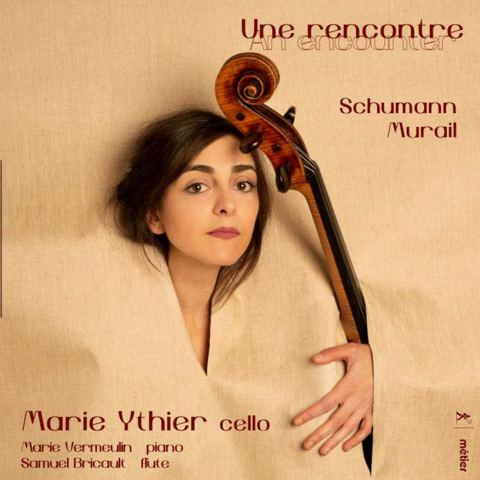 Pochette de l'album« Une rencontre»,œuvres de Robert Schumann et de Tristan Murail.