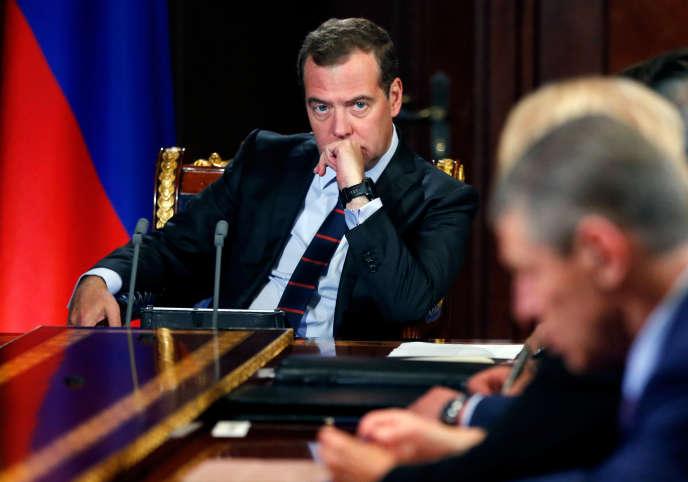Le premier ministre russe Dmitri Medvedev, à Moscou le 17 juin.