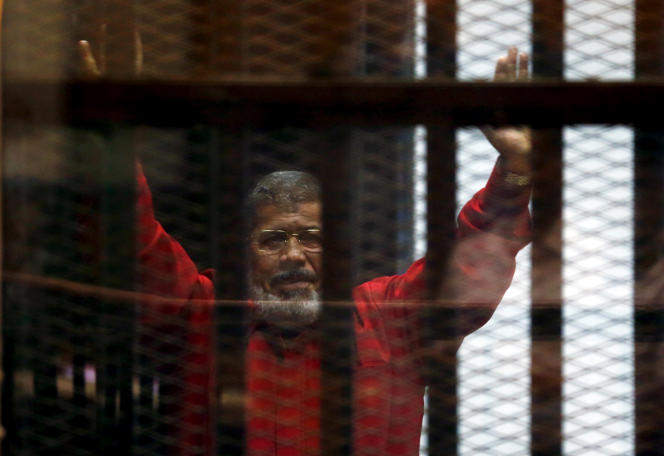 Mohamed Morsi, lors d'une audience, au Caire, en 2015.
