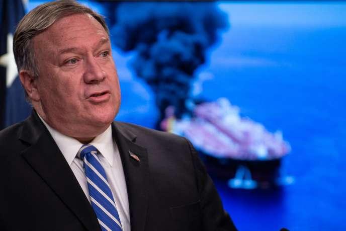 Le secrétaire d'Etat américain Mike Pompeo estime que l'Iran est responsable de l'attaque de deux pétroliers dans le détroit d'Ormuz.