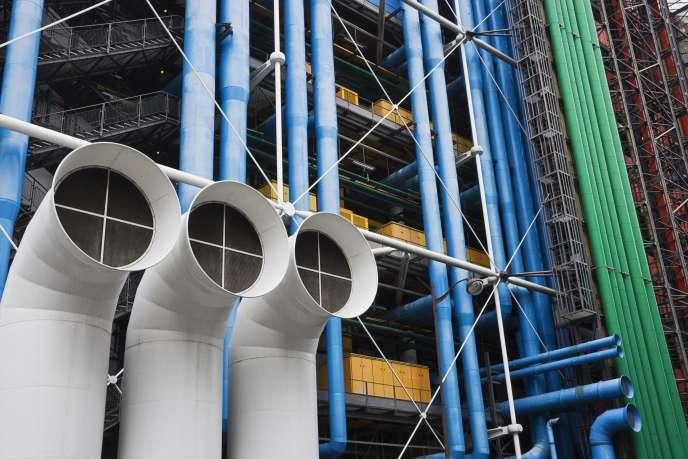 Le Centre Pompidou, temple de l'art moderne, à Paris.