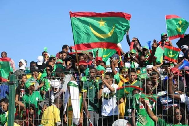 Des supporteurs mauritaniens lors du match contre le Botswana, le 18 novembre 2018.