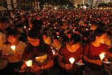 Une veillée à Hongkong, le 4 juin 2019, en hommage aux victimes de la répression de la place Tiananmen, en 1989, à Pékin.