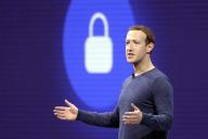 Mark Zuckerberg s'exprime devant les développeurs de Facebook, le 1er mai 2018, à San José (Californie.)