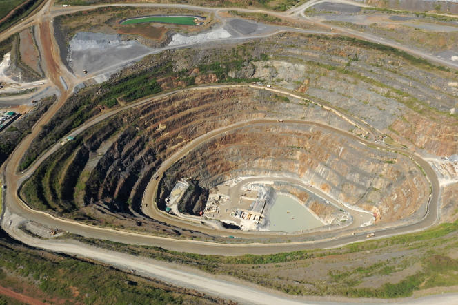 La mine d'or de Mara-Nord, située près de la région des Grands Lacs, en Tanzanie, en mai.