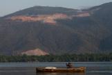 Sur le lac Izabal, au Guatemala, le 1er Avril.