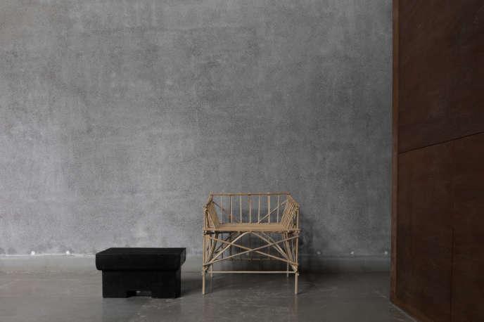 Chaise Bamboo Study III, de Bijoy Jain, Studio Mumbai pour Maniera.