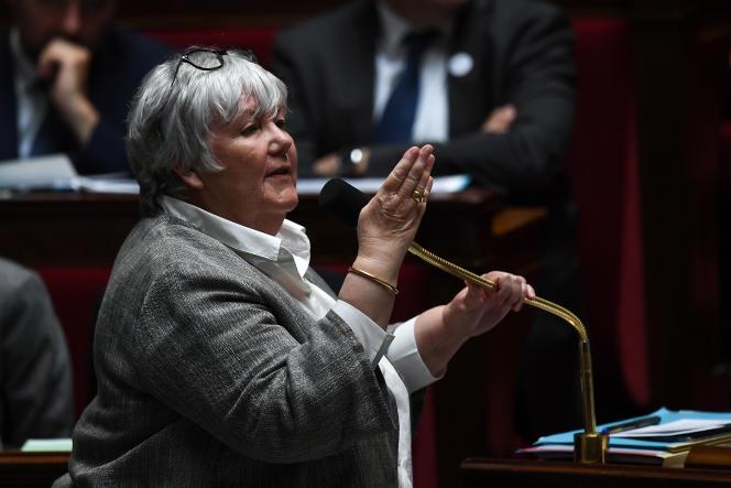 La ministre de la cohésion des territoires, Jacqueline Gourault, à l'Assemblée nationale, à Paris, le 15 mai.