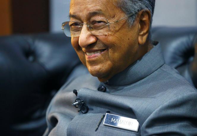Le premier ministre malaisien, Mahathir Mohamad à Langkawi (Malaisie), le 28 mars.