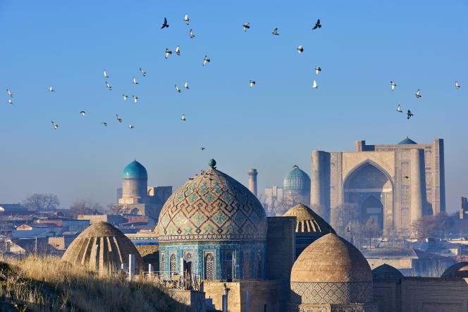 Le mausolée de Shah i Zinda,classé au Patrimoine mondial de l'UNESCO, à Samarcande.