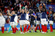 Les Bleues pendant leur match de Coupe du monde contre le Nigeria, le 17 juin, à Rennes.