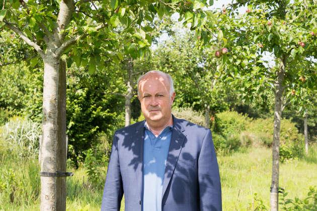 Daniel Cueff, maire du village breton de Langouët, le 17 juin.