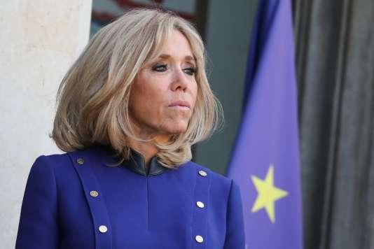 Brigitte Macron photographiée au palais de l'Elysée, le 26 mars 2019.