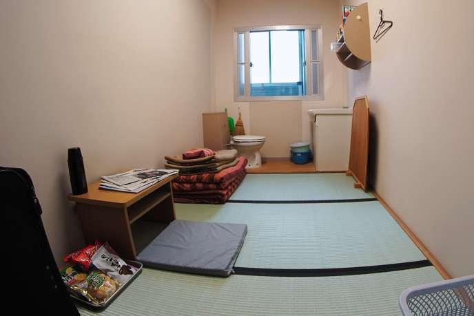L'une des 1 600 cellules individuelles de la prison de Kosuge.