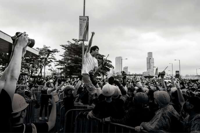 Roy Kwong Chun-yu àHongkong, le 12 juin 2019.
