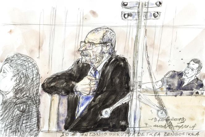 Josu Urrutikoetxea devant la cour d'appel de Paris, le 19 juin.