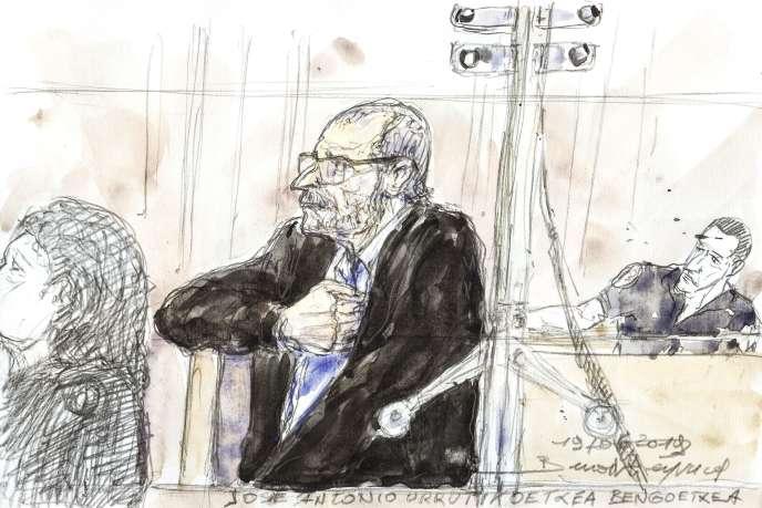 Josu Urrutikoetxea devant la cour d'appel de Paris, le 19 juin 2019.