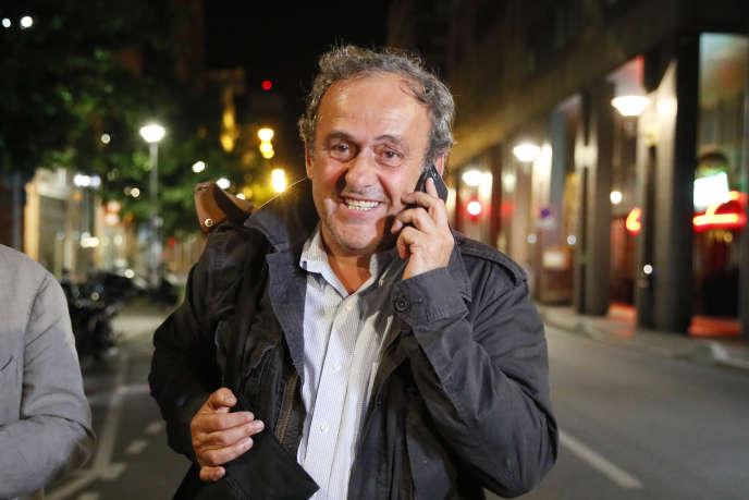 Michel Platini, à Nanterre, mercredi 19 juin.