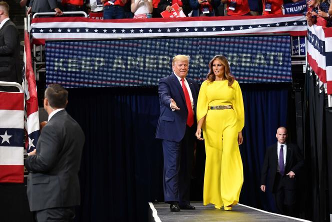 Le président américain Donald Trump et son épouse, Melania, mardi 18 juin, àOrlando.