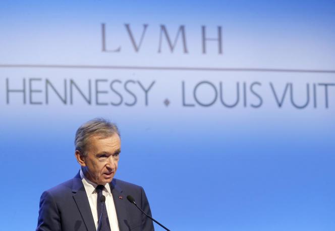 Bernard Arnault, PDG de LVMH, le 25 janvier 2018.