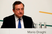 Mario Draghi, président de la Banque centrale européenne, à Vilnius, le 6 juin.