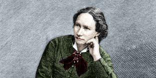 Portrait de Louise Michel, lors de sa déportation à Nouméa (Nouvelle-Calédonie), en1873.